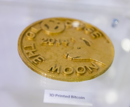 Come check out this 3D printed giant Dogecoin.